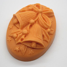 Cake baking Christmas Bells pattern Clay Craft Cement Salt Carving Mold Handmade Silicone Molds