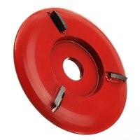 90Mm Durchmesser 16Mm Bohrung Red Power Holz Carving Disc Winkel Mühle Befestigung-in Schleifmaschinen aus Werkzeug bei