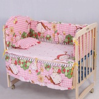 OUTAD Ins Crib Bed 5PCS Set Cotton Crib Bedding Set For 100 58cm 110 60cm Comfortable