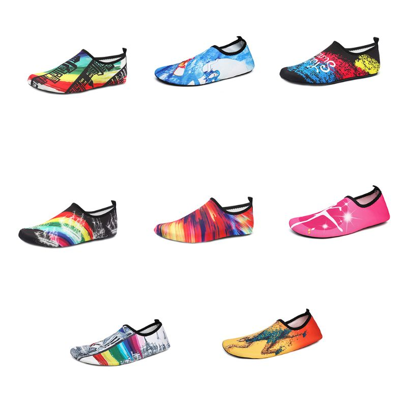 1 Pair Colorful Swim Shoes Unisex Anti Slip Socks Beach Pool Surfing Yoga Not Absorbing Water Lightweight Swimming Accessory