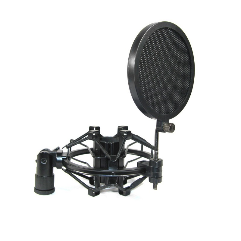 Double Layer Studio Microphone Mic Wind Screen Pop Filter/ Swivel Mount / Mask Shied For Speaking Recording studio mini microfone professional microphone mic wind screen pop filter for koraoke video singing recording cover mask shield