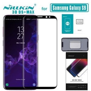 Image 1 - S9 3D DS + Max полное покрытие для Samsung Galaxy S9 стекло закаленное стекло Защита экрана круглый край для S9 Nilkin HD стеклянная плёнка
