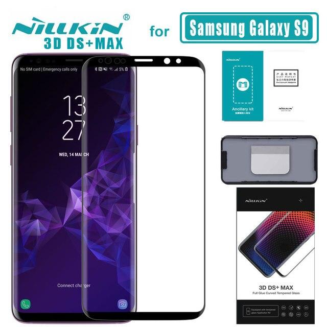S9 3D DS + Max полное покрытие для Samsung Galaxy S9 стекло закаленное стекло Защита экрана круглый край для S9 Nilkin HD стеклянная плёнка