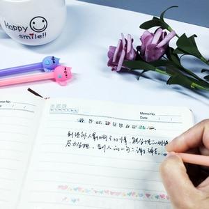 Image 4 - 24 Pcs Korean Creative Cute Student Black Carbon Gel Pen Candy Color Love Cat Kawaii Stationery School Supplies Gel Pens