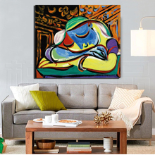 Jeune Fille Endormie Pablo Picasso HD Canvas Painting Living Room Home Decoration Modern Wall Art Oil Posters Pictures