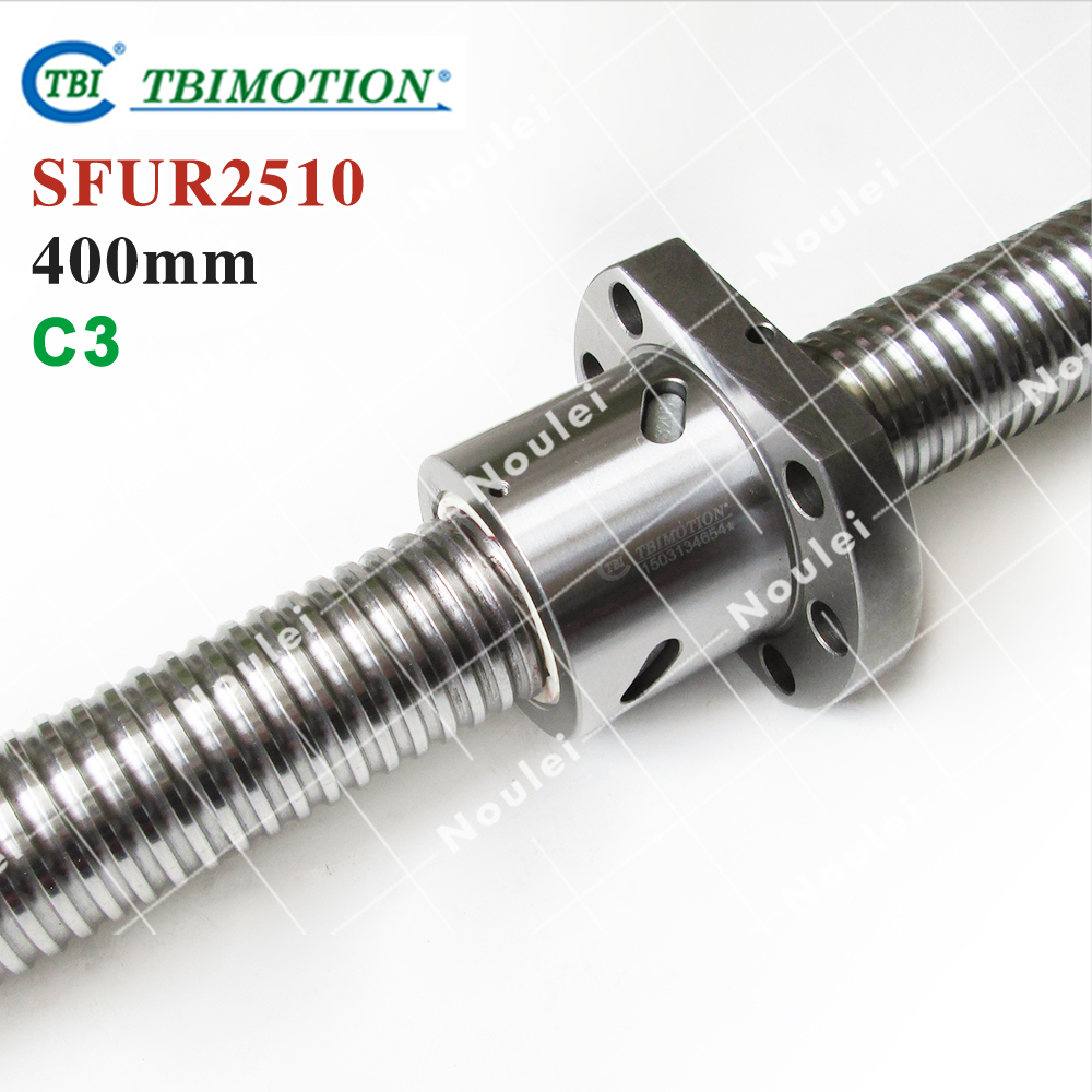 TBI C3 Ground 2510 Ballscrew 400mm with SFU2510 Ball nut for cnc kit винт tbi sfkr 0802t3d