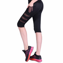 12904f3ea10fd5 S/M/L/XL Women High Waist Yoga Gym Legging Calf-length Pants Pant Sport  leggings Fitness Girl Black Mesh 3/4 Yoga Pants