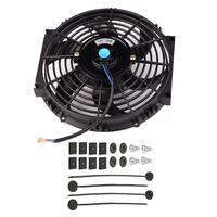 12V Universal Kit Black 10 Inch Slim Fan Push Pull Electric Radiator Cooling Fan for Car