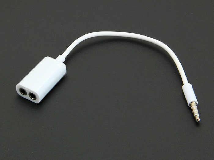 Przewód AUX Jack 3.5mm kabel Audio 3.5mm Jack męski AUX dzieli podwójne kobiece słuchawki adapter przewodu Audio 17cm dostawca hurtowy