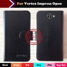 Vertex Impress Open Case Hot!!In Stock 6 Colors Luxury Leather Exclusive For Vertex Impress Open Phone Cover+Tracking