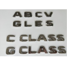 купить Chrome Letters Emblems Badge for Mercedes Benz AMG A B C E G M S GLA GLB GLC GLE GLS CLA CLS CL SL SLC ML V GL SLK CLK GLK CLASS по цене 638.84 рублей