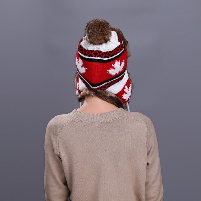 Thicken Balaclava Cotton Fur Ear flap Keep Warm Caps Russian Skull Mask