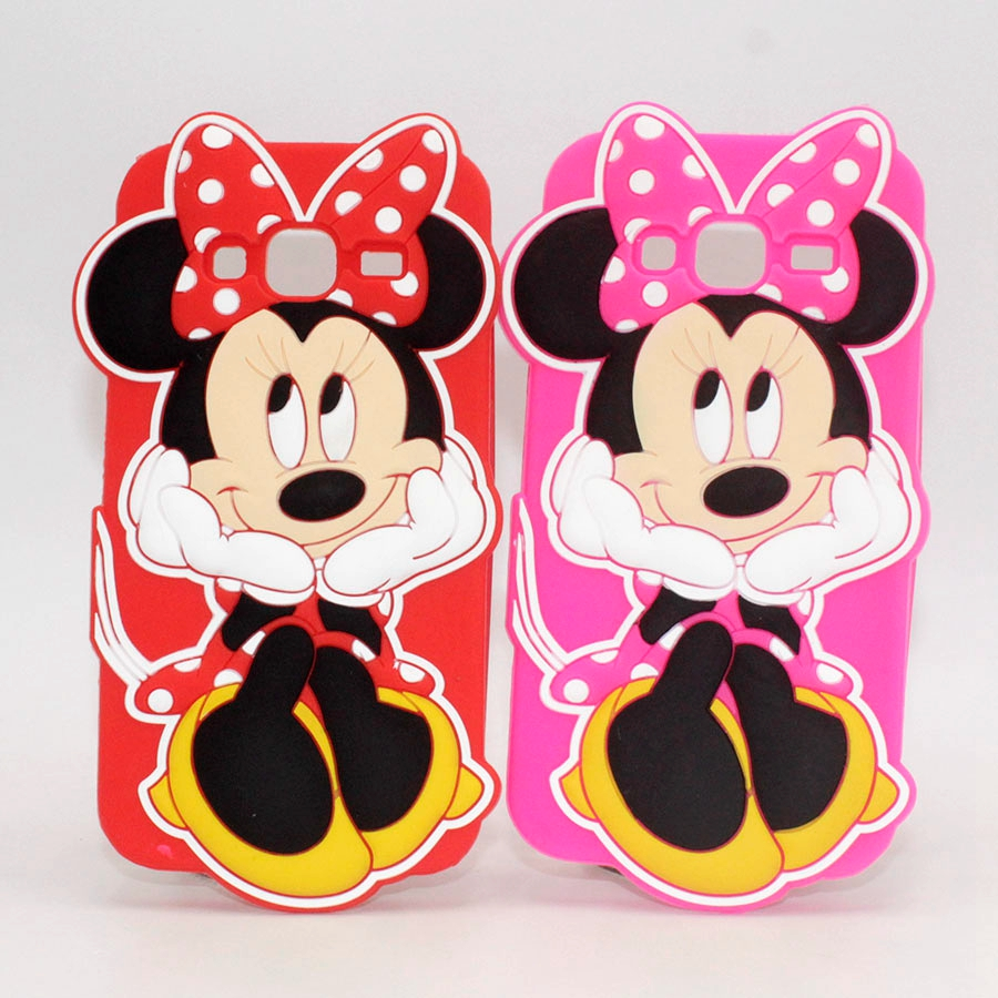 Cute Cartoon Minnie Mouse Silicone Case Cover For Samsung Galaxy A5 J1 Ace J2 J3 J5 J7 2015 J500F J700F J1 Mini Back Cover Capas
