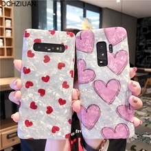 DCHZIUAN Phone Case For Samsung Galaxy S8 S8Plus S9 Plus S10 Note 8 9 Cover Luxury Shiny Love Heart Cases Coque
