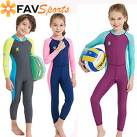 FAVSPORTS Children Wetsuit Long Sleeve Kids Wetsuit Snorkeling Diving Suits Swimsuit Full Body Thermal Protection Rash Guards