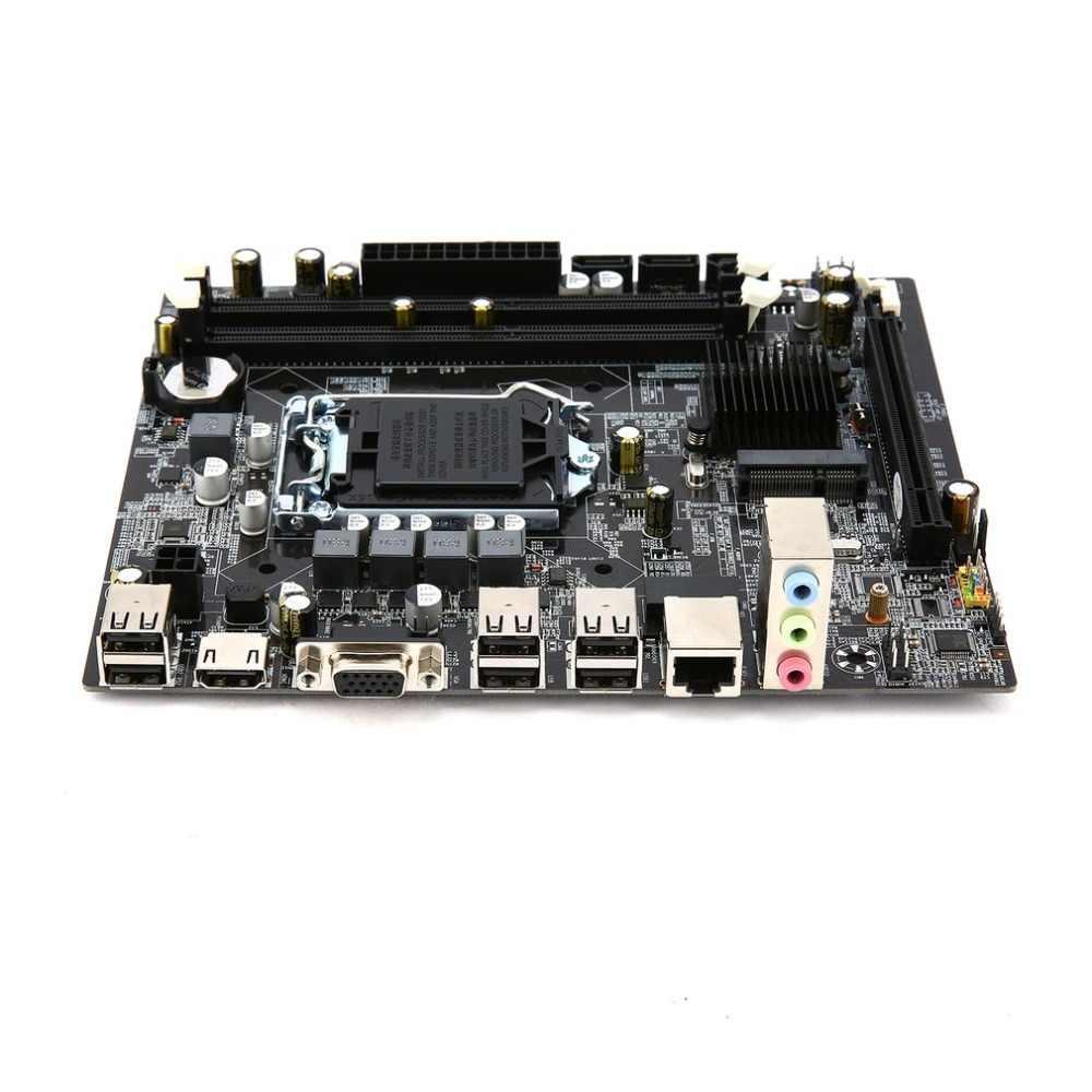 Komputer Papan Utama untuk Intel H55 Soket HDMI LGA 1156 Pin Dual Channel DDR3 Mainboard dengan I/O Perisai