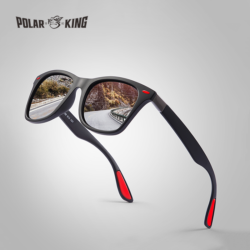 POLARKING Brand Men's Fashion Polarized Sunglasses For Driving Plastic UV Protection Eyewear Designer Travel Sun Glasses