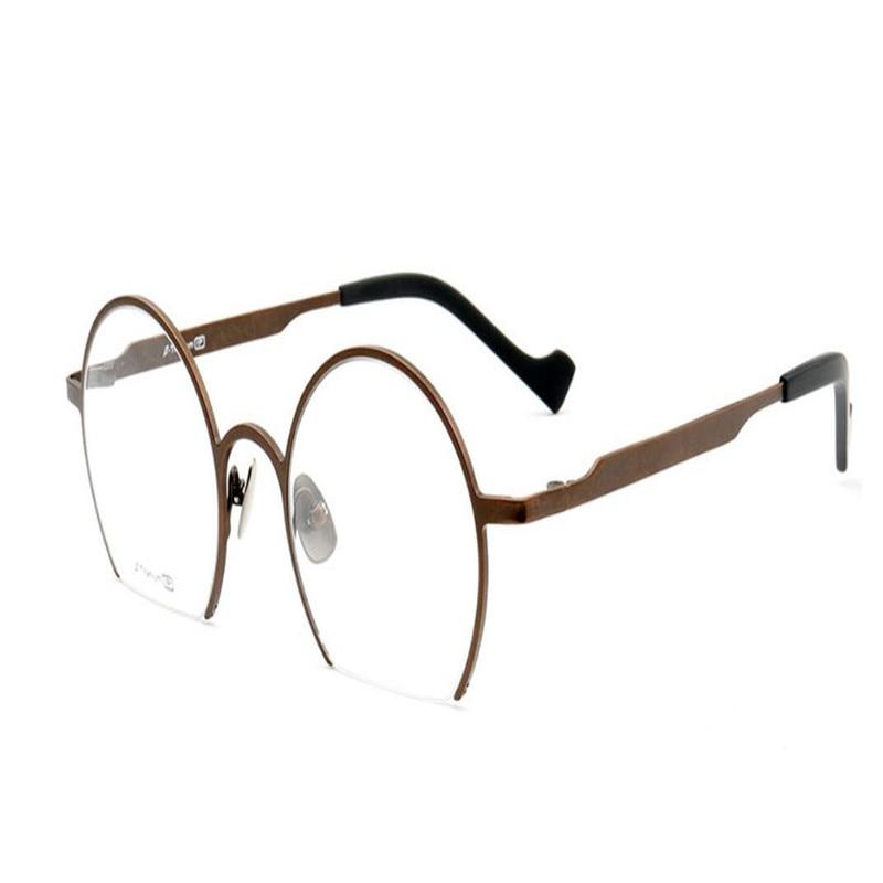 Halb Unisex titanium Anti Rahmen Schwarz Brillen Goggle Optische Objektiv müdigkeit Mongoten B Asphärische Lesen Rand Mode qCSEwxdE