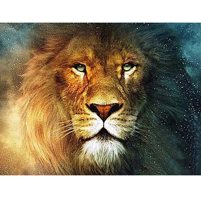 5D diamond painting Cross Stitch picture Diamond Embroidery animal pictures lion home decor mosaic diamond Round crystal