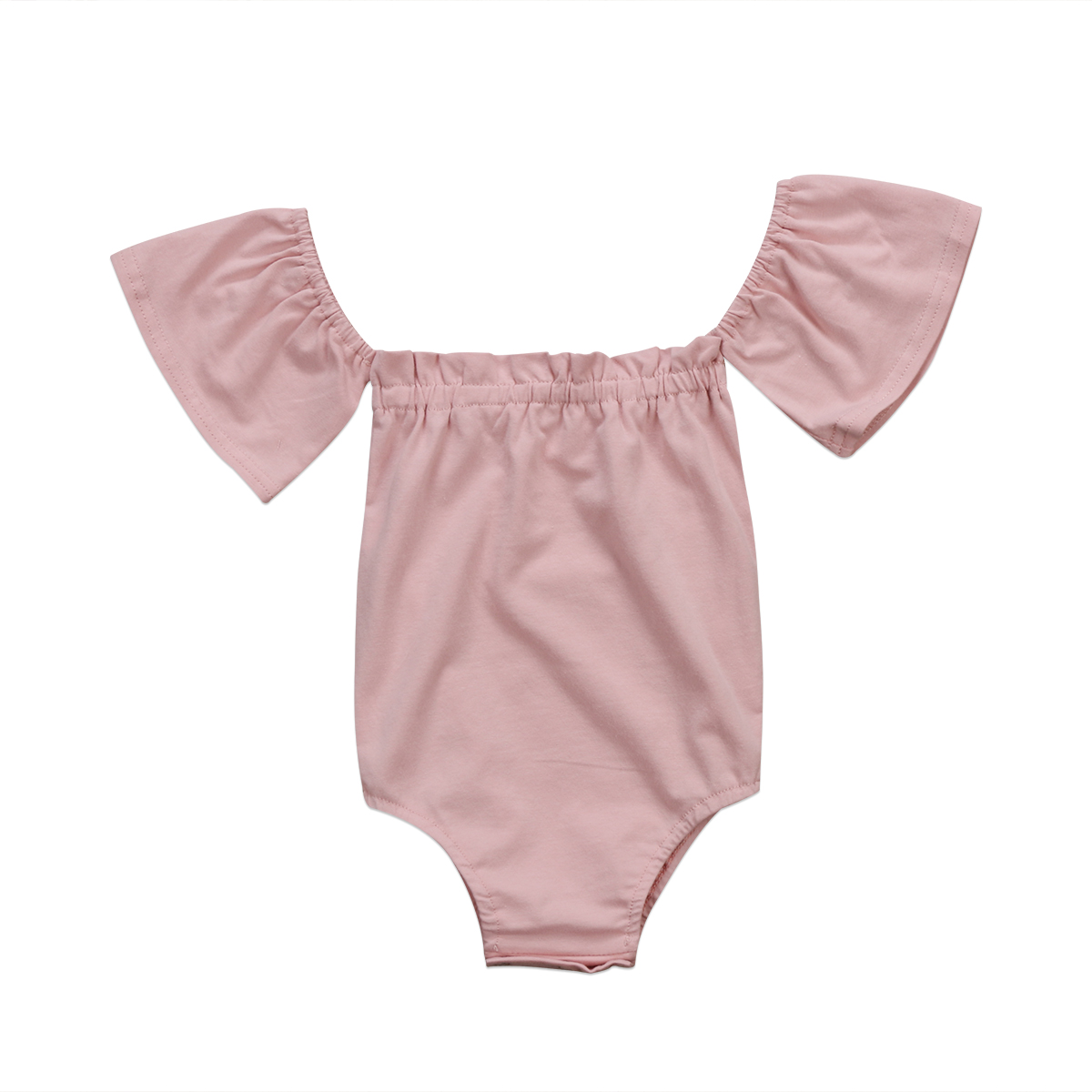 Baby Clothing Newborn Infant Baby Girl Pink Romper Off ...