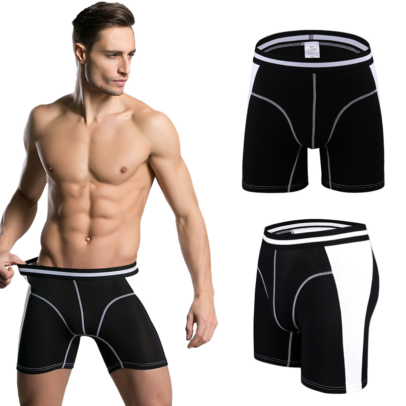 Brand Mens Underwear Ultimate Soft Antimicrobial Micro Modal Stretch Boxer Long Leg Panties Underpants