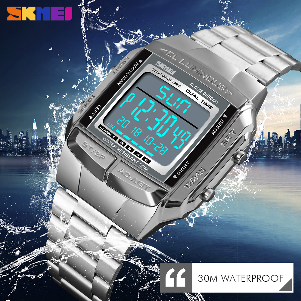 <font><b>SKMEI</b></font> Luxury Sports Chronograph Men's Watch Outdoor Military Waterproof Electronic Digital Wrist Watches Clock relogio masculin image