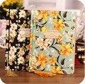 Винтажный блокнот с цветами  серия цветения  канцелярские товары в Корейском стиле  блокнот с Переплетом Из Проволоки  мягкая обложка