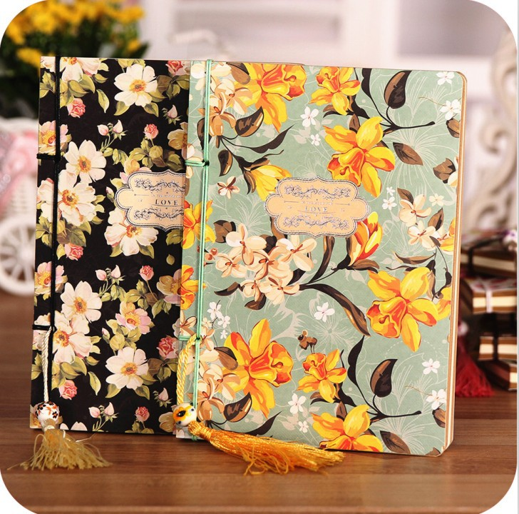 [ Special Offer ] Vintage Notebook [ Flowers Blooming Series ] Korea Stationery Notepad Wire-bound Notebook Soft Cover