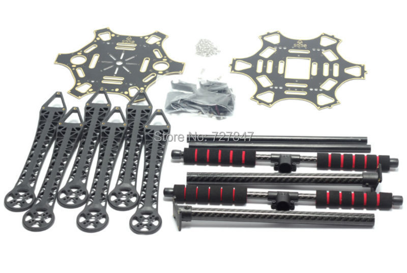 S550 F550  500 Upgrade Hexacopter Frame Kit with Unflodable Landing Gear for FPV