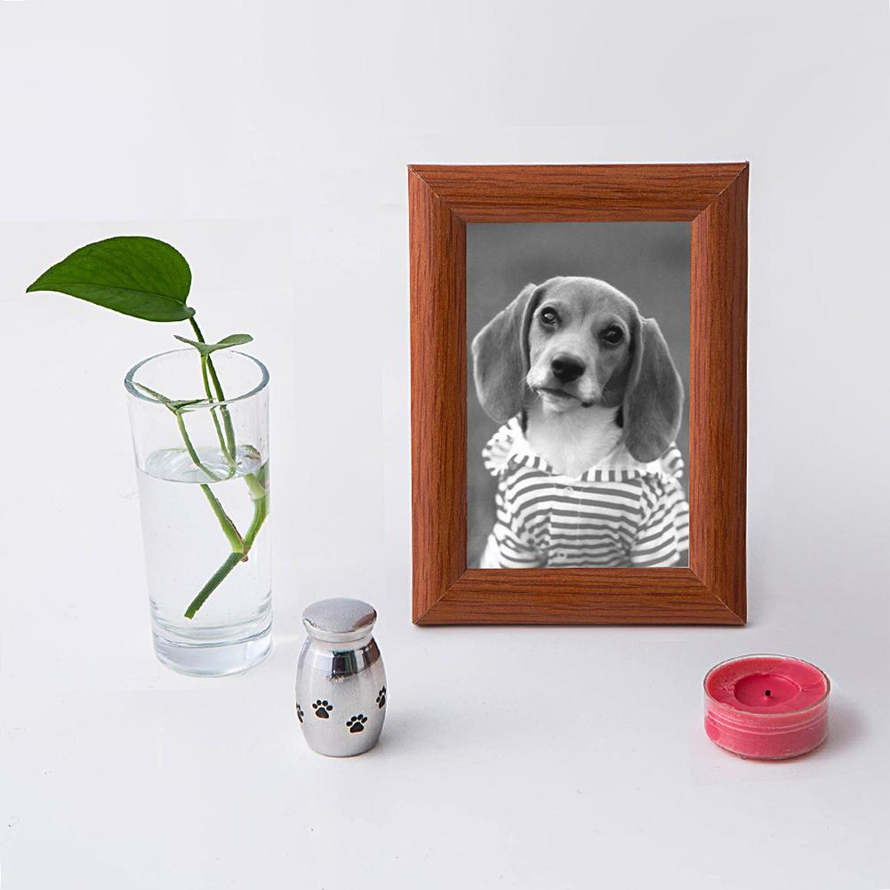 Mini Stainless Steel Paw Heart Cremation Urn Dog Pet Cinerary Funeral Casket Unfading Miss Mourning Pet Cat Dogs Ashes Container
