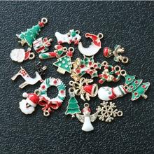 Beautiful 19PCS Mixed Christmas Hanging Ornaments DIY Jewellery Pendants Xmas Christmas Tree Decoration Festival Holiday Decor