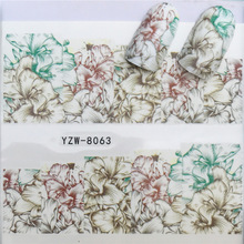 2018 All New Nail Paste Stickers, Small Fresh Flowers DIY Watermark Fingernail Stickers.Hot Selling GoodsYZW-8057