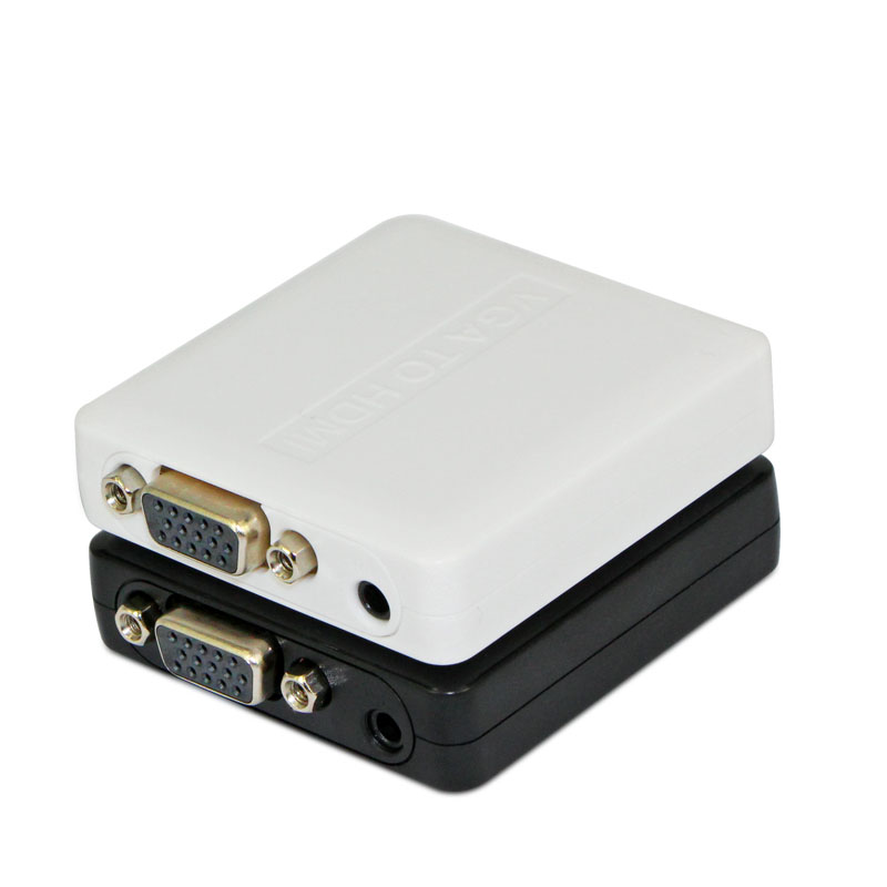 vga-hdmi converter cable, PC analog host to HD interface converter box, computer to even the TV projection