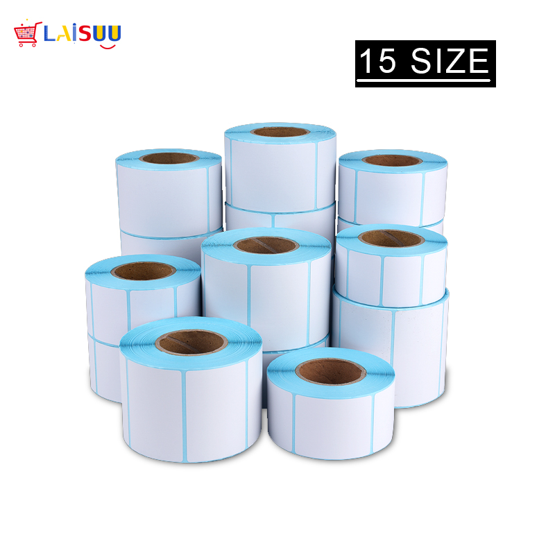 15 Size Adhesive Thermal Label Sticker Paper Supermarket Price Blank Label Direct Print Waterproof 700pcs/Roll