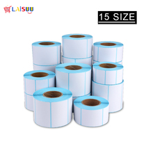 15 Size Adhesive Thermal Label Sticker Paper Supermarket Price Blank Direct Print Waterproof 700pcs/Roll