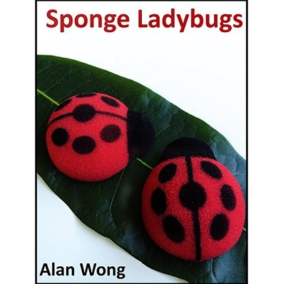 Free shipping (4pcs/set) Magic Sponge Lady Bugs ladybuys magic tricks magic props