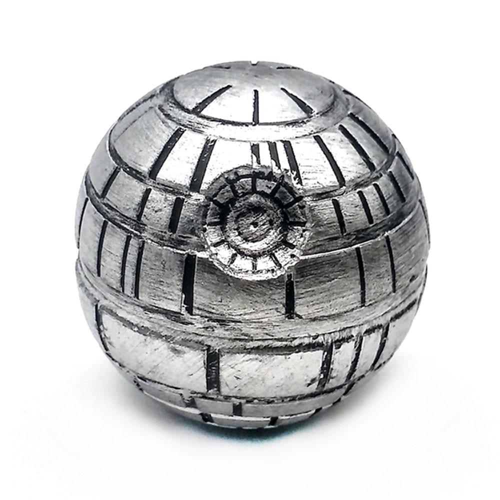 2pcs/lot Star Wars Death Star Herb Tobacco Grinder Metal Plastic Smoking Weed grinders Shredder Crusher 3 layers Diameter 50mm