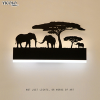 Bedside Wall lamps acrylic lampshade lighting fixture black sconces lights for living room home arandelas para parede