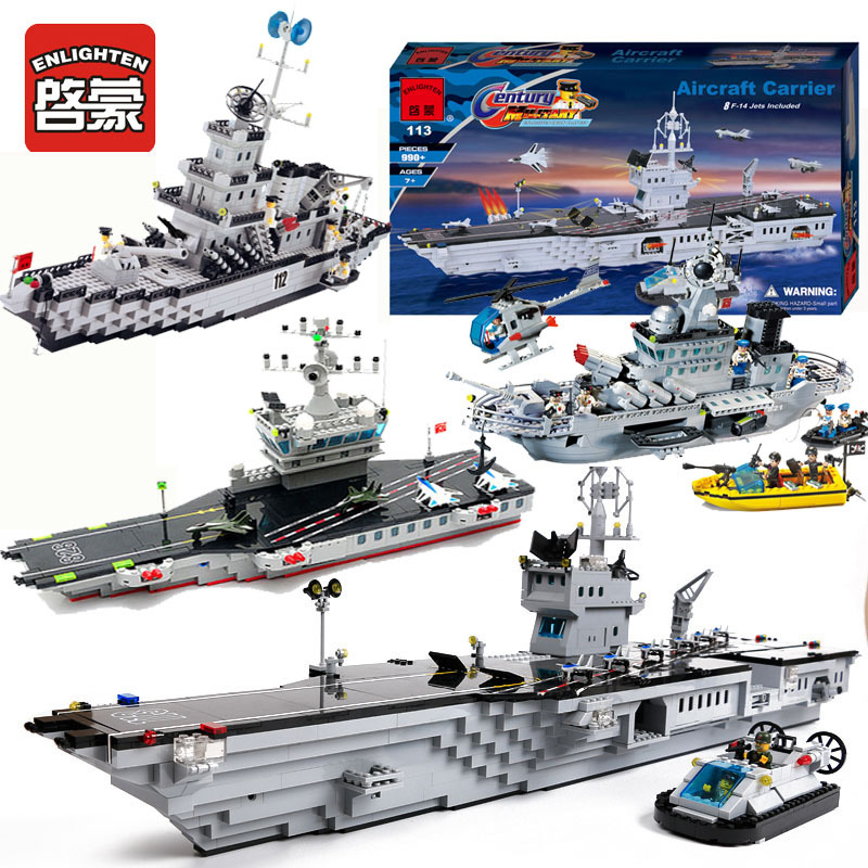 ENLIGHTEN Warship Collection Military Ship Building Block Compatible with Legoe Educational Toys Birthday Gift For Children 780pcs black pearl caribbean pirate ship model building block toys enlighten 308 educational gift for children compatible legoe