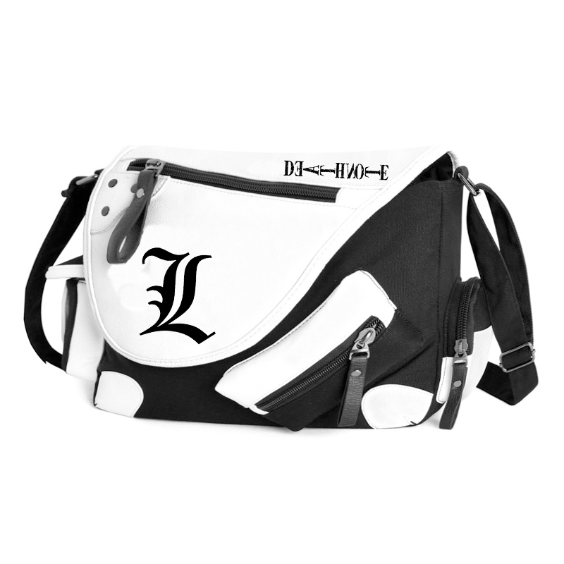 Japan anime Death Note Misa Amane PU+Canvas Durable School Student Book Bag Messenger Shoulder Bags smooth butt plug ass sex toys for women silicone anal plug prostate massager g spot anal stimulator adult products anal sex toys