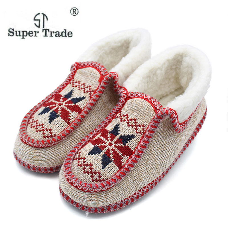 Winter Women Home Slippers Comfortable Flats Shoes Cotton