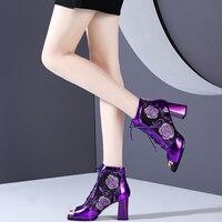 Женские босоножки Летние сланцы прозрачного пластика, женские винтажные пляжные сандалии на плоской подошве с ремешком и пряжкой, большие