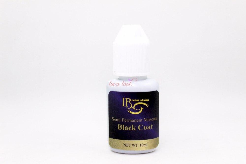 Free Shipping 2 bottles/lot Wholesale Price eyelash extensions Original Korea Semi Permanent Mascara IB Ibeauty Black Coat 10ml