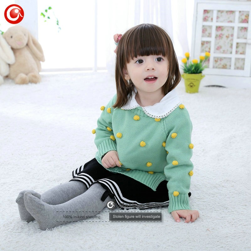 Kids Tinny Cotton Boys Sweater Children Pullover Cardigan Coat For Girls Baby Long Sleeve Knitwear Christmas Clothes With Balls (21)