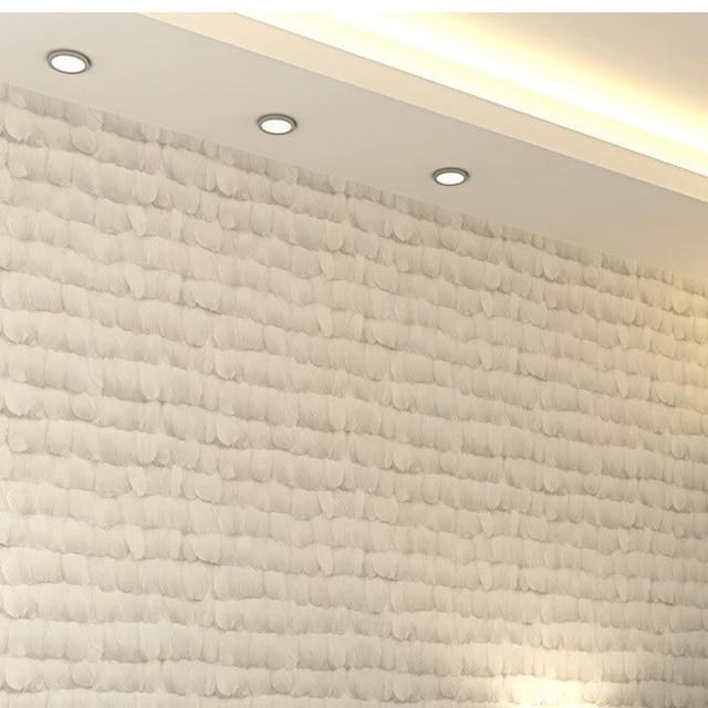 Plume Mur Papier Rouleau Naturel Revêtement Mural En Fiber Non ...