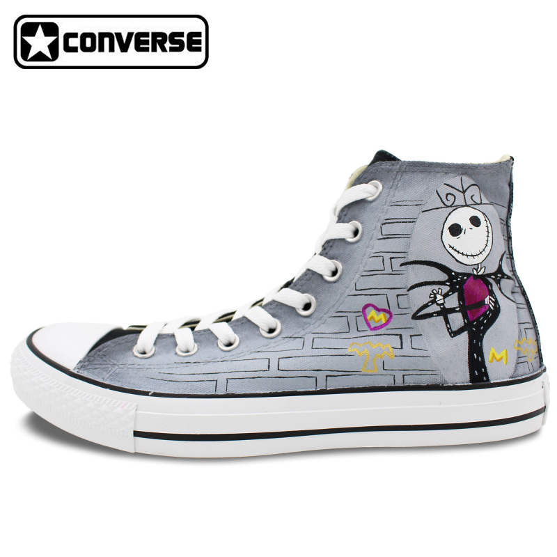the nightmare before christmas jack skellington converse all star women men shoes  custom design hand painted 08a3f974a515