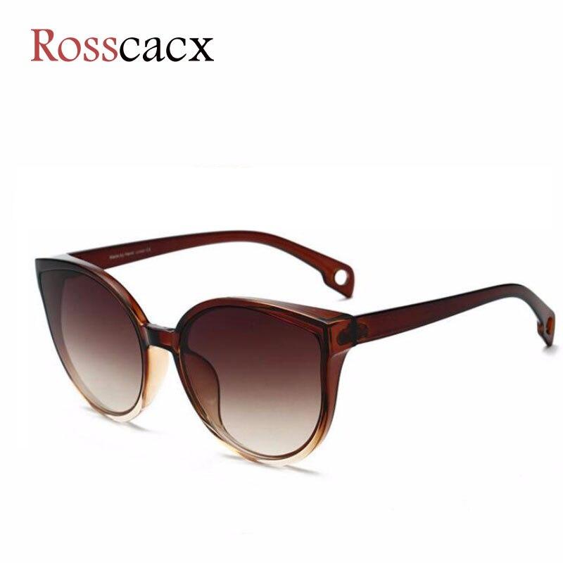 Rosscacx Design Luxury Cat Eye Sunglasses Women Brand Shades For Women Gradient Lens Trendy Sun Glasses Oculos De Sol