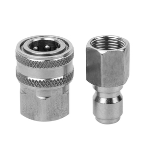 Stainless Steel Pressure Washer Adapter Set G3/8 Inch Female Quick Connect Plug And Socket For Attach A Hose To The Water Pump(China)