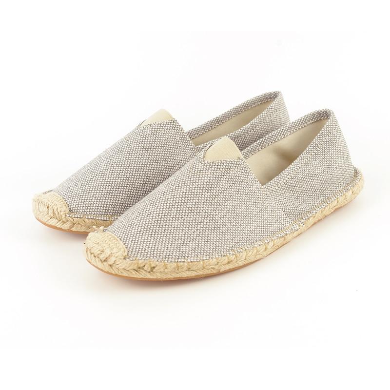 Women Casual Shoes 2018 Spring Women Loafers Cane Hemp Straw Fisherman Flat Heel Shoes Women's Slip on Female Shoes WSC11