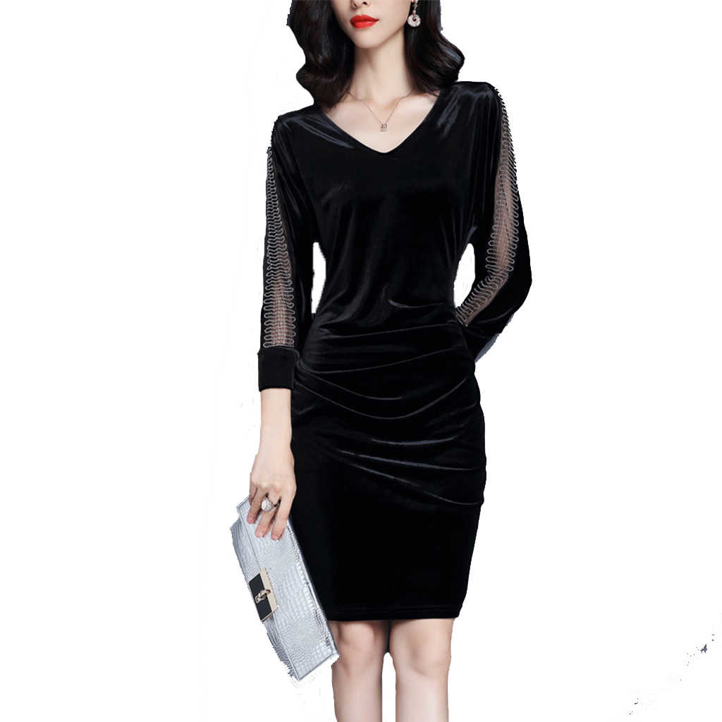 0e7308a78b253 Detail Feedback Questions about 2019 New Velvet Dress Mosaic Closed ...